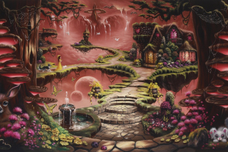 Fantasy Land Art Background for Android, iPhone and iPad