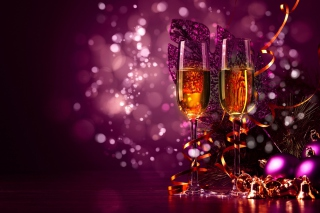 New Year's Champagne Background for Android, iPhone and iPad