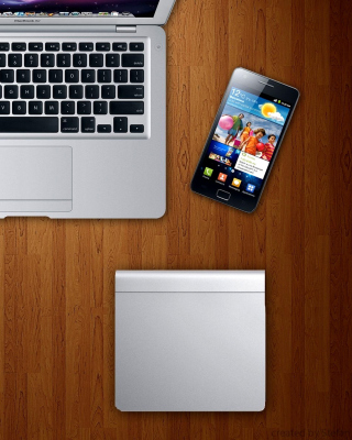 Apple Gadgets, MacBook Air, iPad, Samsung Galaxy Wallpaper for Nokia C2-05