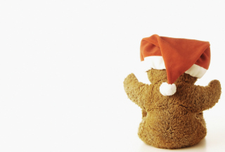 Christmas Plush Bear Wallpaper for 320x240