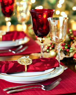 Christmas Dinner Idea Background for Nokia C1-01