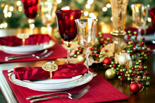 Christmas Dinner Idea Background for Android, iPhone and iPad