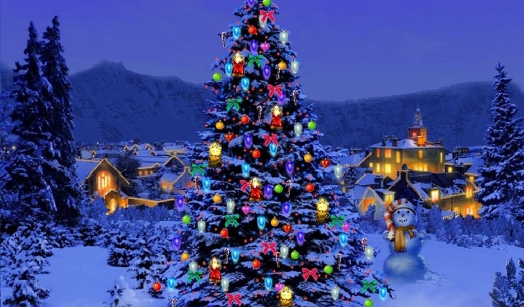 Christmas Tree wallpaper 1024x600