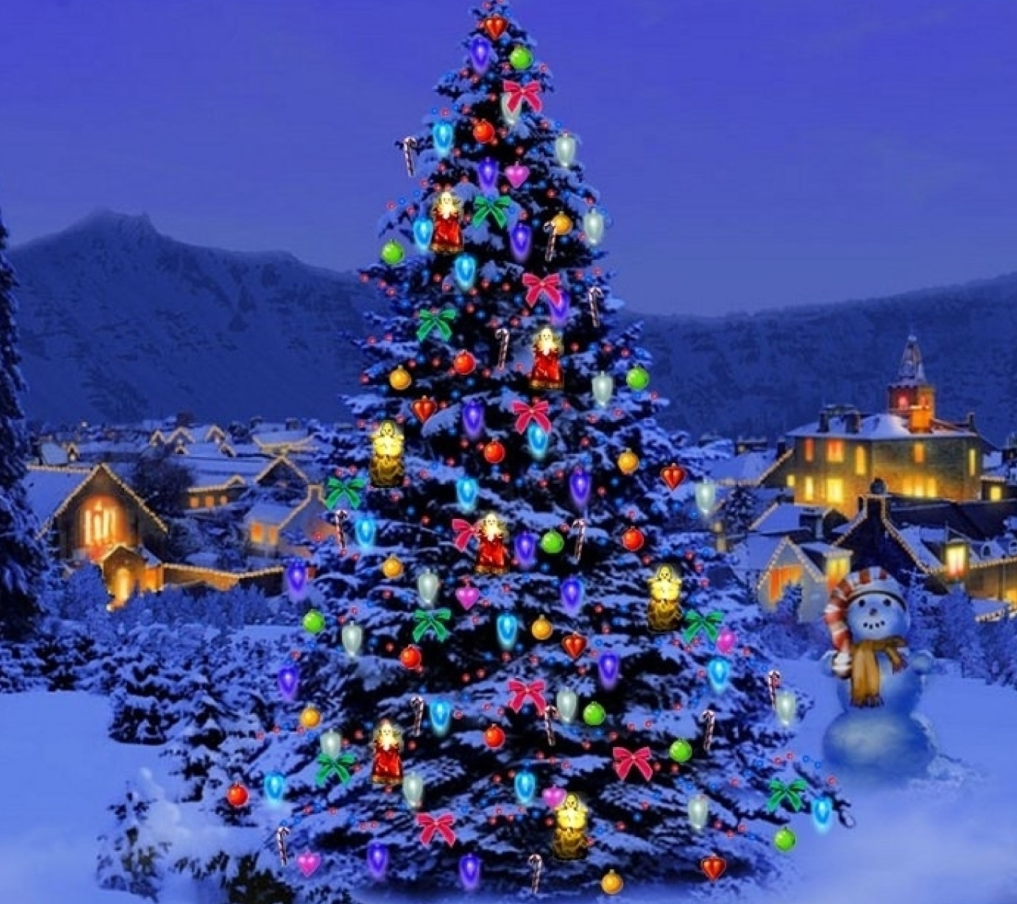 Christmas Tree wallpaper 1440x1280