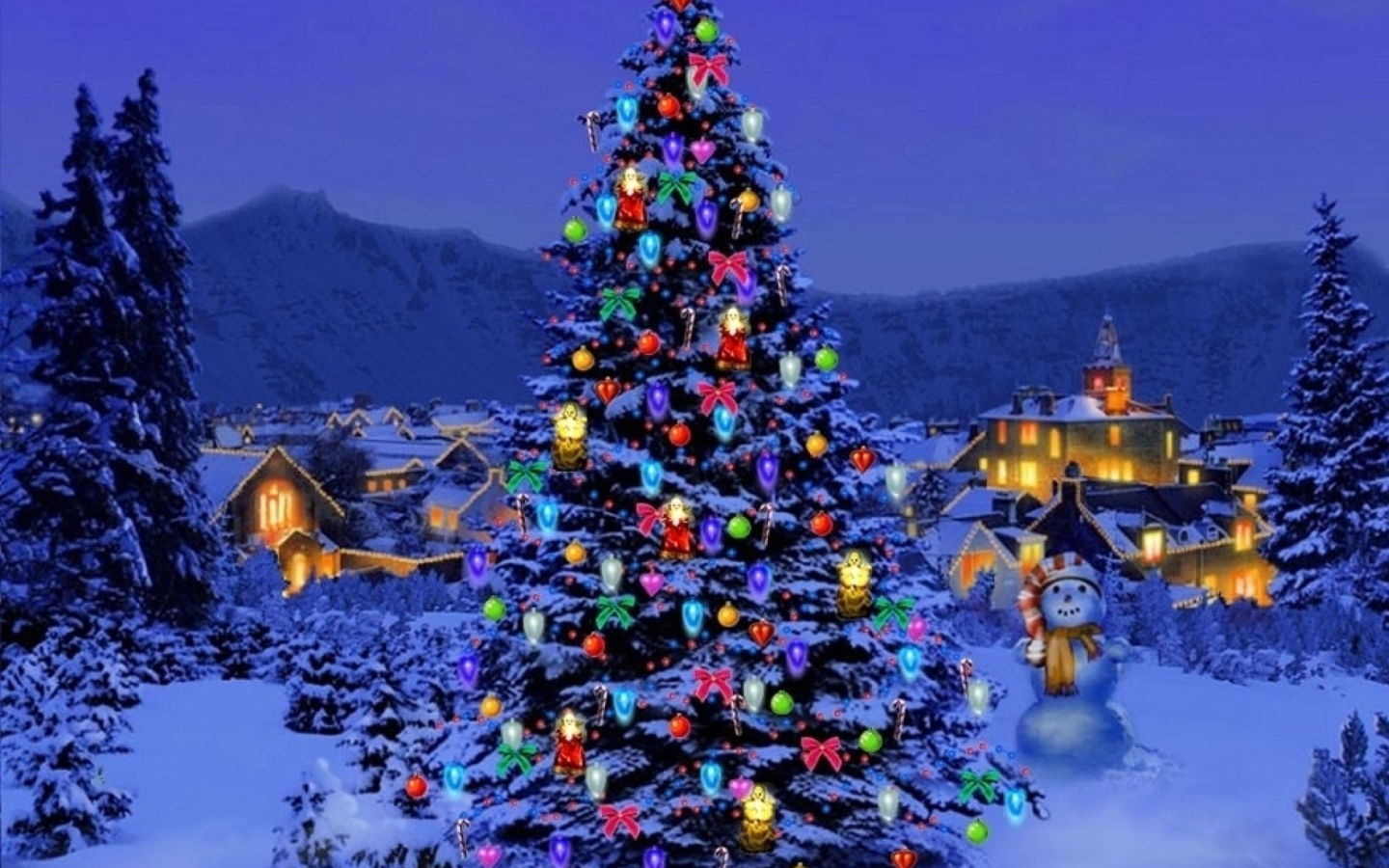 Christmas Tree wallpaper 1440x900