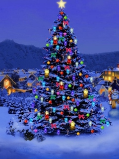 Christmas Tree wallpaper 240x320