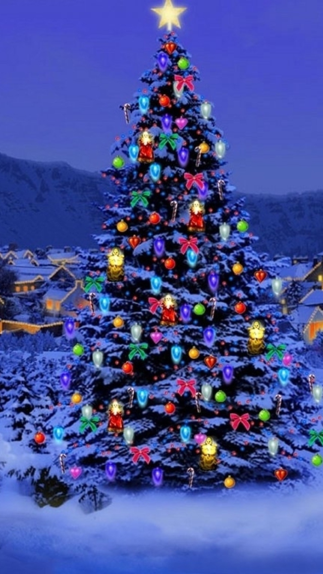 Christmas Tree wallpaper 640x1136