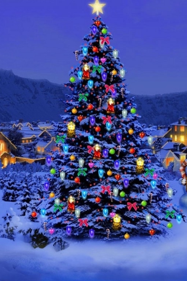 Christmas Tree wallpaper 640x960