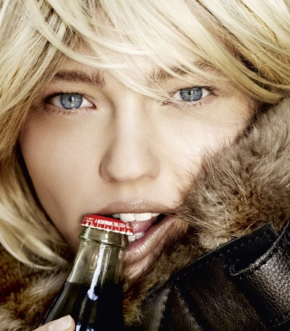 Platinum Blonde With Coca-Cola Wallpaper for Nokia C1-00