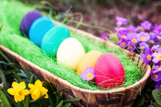 Colorful Easter Eggs sfondi gratuiti per Desktop Netbook 1024x600