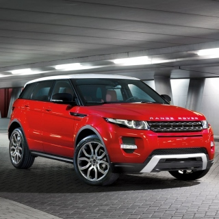Land Rover Range Rover Evoque SUV Red Background for iPad Air