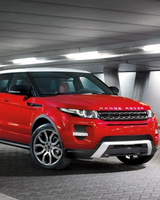 Land Rover Range Rover Evoque SUV Red sfondi gratuiti per iPhone 6 Plus