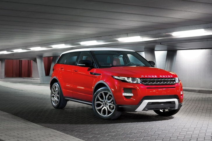 Land Rover Range Rover Evoque SUV Red wallpaper