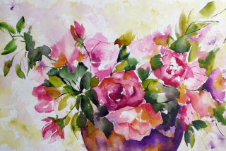 Watercolor Flowers Wallpaper for Android, iPhone and iPad