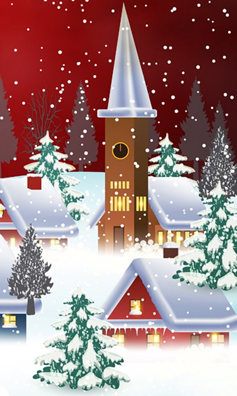 Das Homemade Christmas Card Wallpaper 768x1280