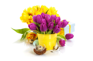Spring Easter Flowers sfondi gratuiti per cellulari Android, iPhone, iPad e desktop
