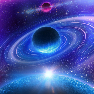 Planet with rings - Fondos de pantalla gratis para iPad Air