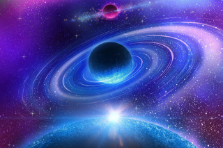 Planet with rings Picture for Android 480x800