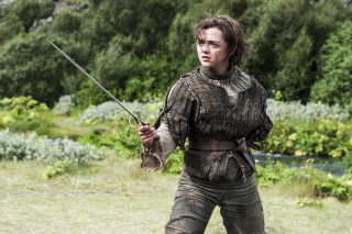 Game of Thrones Arya Stark sfondi gratuiti per Samsung Galaxy Note 2 N7100