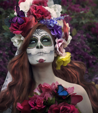 Mexican Day Of The Dead Face Art sfondi gratuiti per iPhone 6 Plus