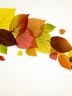 Drawn autumn leaves screenshot #1 240x320