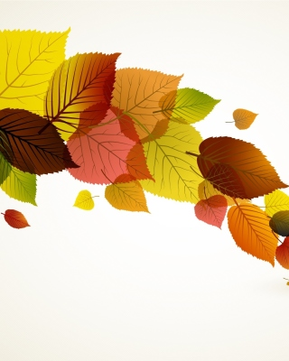 Drawn autumn leaves Wallpaper for Nokia X2