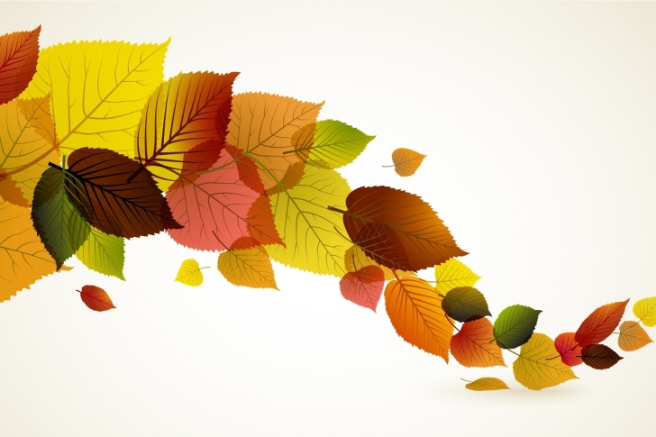 Drawn autumn leaves wallpaper