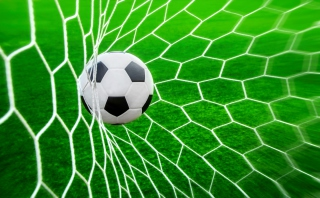 Ball In Goal Net Background for Android, iPhone and iPad