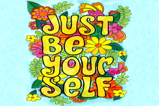 Just Be Yourself Background for 480x320