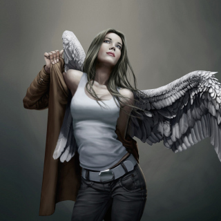 Angel Drawn Art Wallpaper for iPad 3