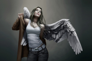 Angel Drawn Art Wallpaper for Widescreen Desktop PC 1600x900