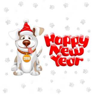 New Year Dog 2018 - Fondos de pantalla gratis para iPad 2