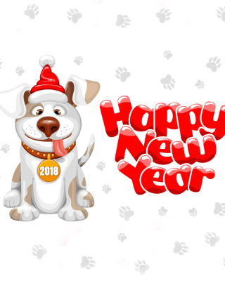 New Year Dog 2018 sfondi gratuiti per Nokia Lumia 925