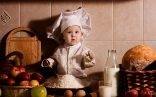 Baby Chef Wallpaper for Android 480x800