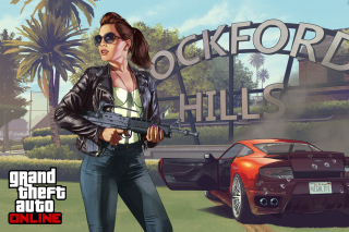 Kostenloses Grand Theft Auto V Girl Wallpaper für Samsung Galaxy S 4G