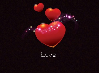 Sparkling Hearts Wallpaper for Android, iPhone and iPad