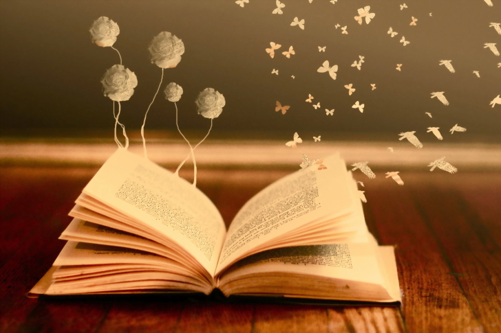 Books Fairy Butterflies wallpaper