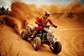 Yamaha ATV Quad Bike Wallpaper for Android, iPhone and iPad