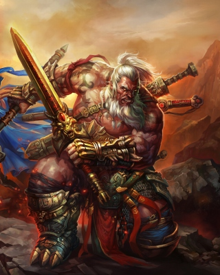 Free Barbarian - Diablo III Picture for Nokia Asha 503