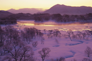 Free Winter Landscape In Fukushima Japan Picture for Android, iPhone and iPad