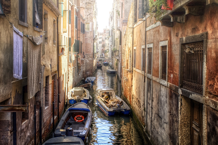 Canals of Venice Painting wallpaper