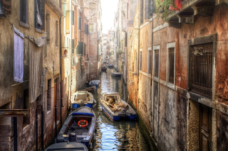 Canals of Venice Painting Wallpaper for Android, iPhone and iPad