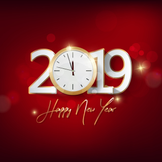 2019 New Year Festive Party sfondi gratuiti per iPad mini