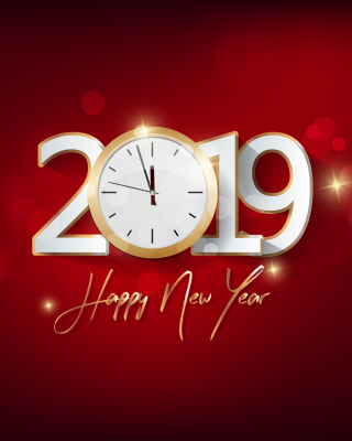 Kostenloses 2019 New Year Festive Party Wallpaper für 320x480