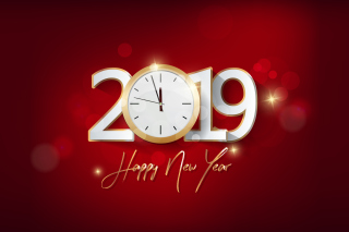 2019 New Year Festive Party papel de parede para celular