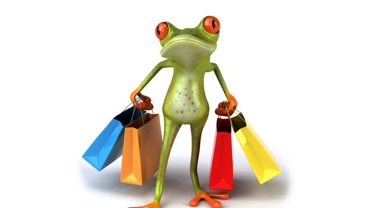 3D Frog Shopping