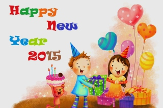 Happy New Year Childhood Picture for Android, iPhone and iPad