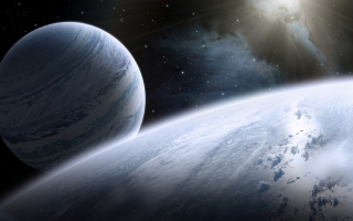 Kostenloses Planet And Stars Wallpaper für Android, iPhone und iPad