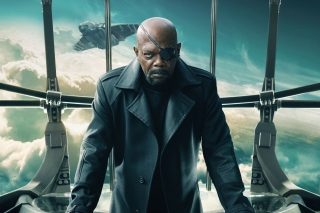 Nick Fury Captain America The Winter Soldier - Obrázkek zdarma pro Android 1080x960