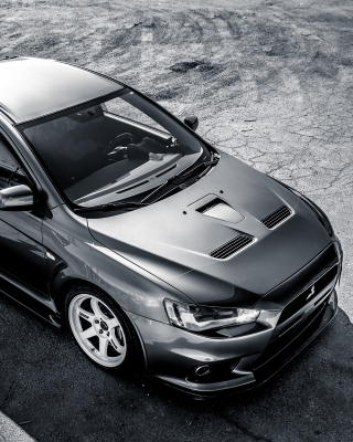 Mitsubishi Lancer Evolution Wallpaper for 240x320